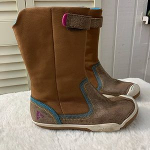 PLAE CAMILLE SHIMMER Brown BOOTS